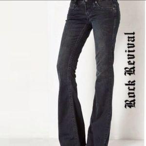 Rock By Rock Revival Women's Jeans Gia Flare Black